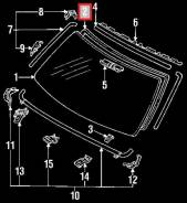 Уплотнитель лобового стекла. Toyota Corolla Toyota 4Runner, LN106, RN106, YN135, RN110, RN130, RN120, VZN105, RN80, RN90, VZN95, VZN85, VZN131, RN101...