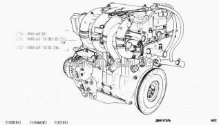 Двигатель в сборе. Лада 2110, 2110 Лада 2111, 2111 Лада 2112, 2112 Двигатели: X20XEV, BAZ2110, BAZ2111, BAZ21114, BAZ21120, BAZ21124, BAZ415, BAZ2112...
