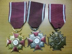 Крест Заслуги (все степени) Образца 1952–1990г. (Польша) во Владивосто. Оригинал