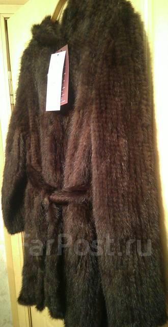 новая вязаная норка пальто верхняя одежда во владивостоке