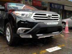 Новые накладки на бампера ( диффузоры ) Toyota Highlander 2012-2013
