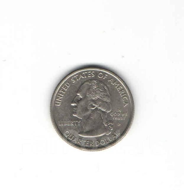 Монета квотер сша 2002 г , indiana 1816 г цена серебряные монеты с дыркой цена
