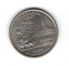 Монета Квотер США 2006 г. (Nebraska 1867 г. ) «D»