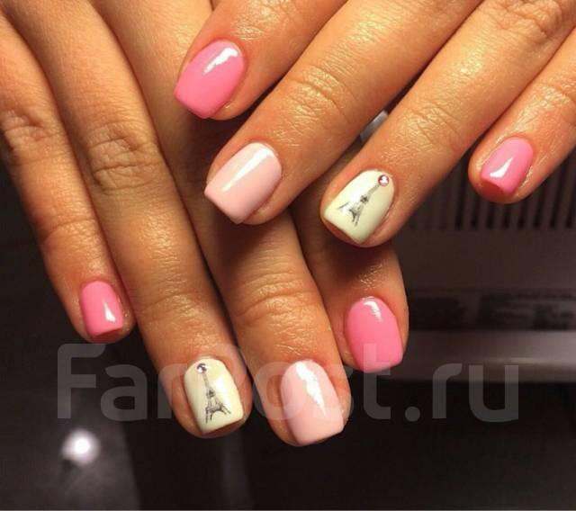 Простой дизайн ногтей гель лаком фото