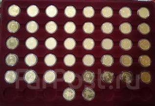 Набор монет 10 рублей ГВС в позолоте! в планшете! 42 шт.