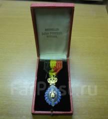 """Медаль """"За трудовое отличие """" 1кл. в оригинальном футляре, Бельгия"""