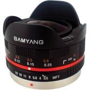 Объектив фишай Samyang Rokinon 7.5mm f/3.5 MFT для Panasonic Olympus. Для Panasonic, Olympus