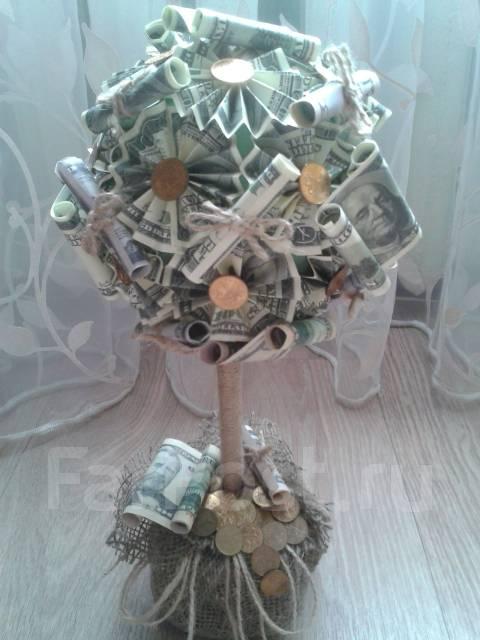 фото денежный топиарий
