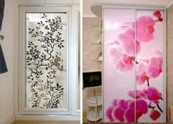 Декорирование стекол и зеркал (фотопечать, покраска, пленка) На заказ