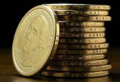 США 1$ Президенты Полный набор - 39 монет! (2007-2016гг)