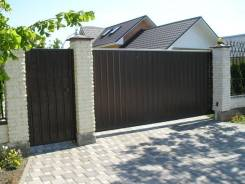 Откатные ворота, распашные ворота, гаражные секционные ворота.