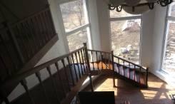 """Лестницы из ясеня """"палисандр""""."""