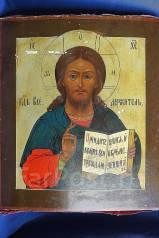 Аналойная икона Спасителя. Россия, XIX век. Оригинал