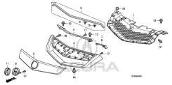 Молдинг решетки радиатора. Acura RDX