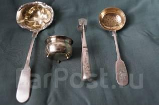 Старинный чайный набор из четырех предметов. Россия, XIX век. Оригинал