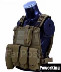 """Тактический разгрузочный жилет """"Commando""""- Цвет: хаки."""