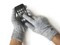 Перчатки Weskent Gloves Grey Melange с токопроводящей нитью для iPhone