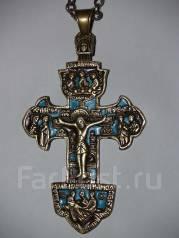 Крест наградной игуменский наперсный. Гуслицкое литье. Начало XIX века. Оригинал