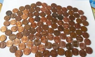 США. 113 монет по 1 центу без повторов! Годовка! Начиная с 1942 г.