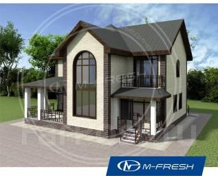 M-fresh Fazenda-зеркальный (Проект дома с выразительным эркером! ). 200-300 кв. м., 2 этажа, 5 комнат, бетон