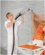 Штукатурка, стяжка механизир-ным способом (дешевле