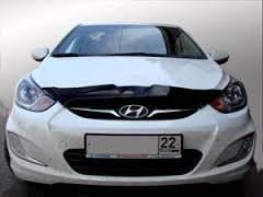 Дефлектор капота. Hyundai Solaris
