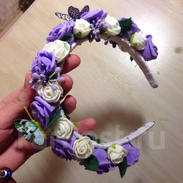 Венок из искусственных цветов купить