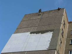 Утепление фасадов, высотные работы, ремонт метал., и мягкой кровли.