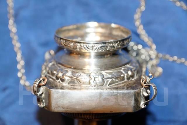 Лампада церковная в стиле Ампир, серебро «84» пробы. Россия, 1840 год. Оригинал