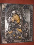 Икона Пресв. Богородицы «Владимирская» в cтаром окладе. Оригинал