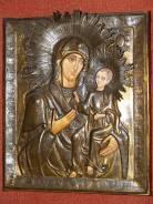 Икона Пресв. Богородицы «Иверская» в старом окладе. Оригинал