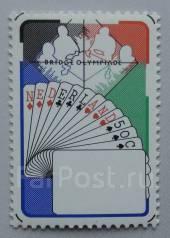 1980 Нидерланды. Карты. Олимпиада по бриджу. 1 марка. Чистая