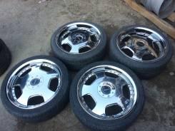 Bridgestone Lowenzahn. 7.5/8.5x18, 5x114.30, ET48/45, ЦО 70,0мм.