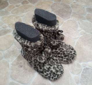 Качественные леопардовые домашние сапожки! 39 - 40 - 41 . НЕ Китай