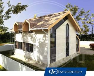 M-fresh Music (Посмотрите готовый проект маленького дома! ). 100-200 кв. м., 1 этаж, 3 комнаты, каркас