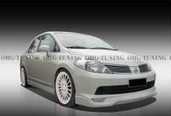 Обвес кузова аэродинамический. Nissan Tiida Latio. Под заказ
