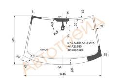 Стекло лобовое в клей AUDI A5 4D SEDAN 09- SAT SPG-AUDI-A5 LFW/X