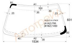 Стекло лобовое в клей AUDI 100/A6 C4 90-97 4/5D, переднее