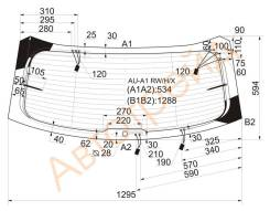 Стекло заднее (крышка багажника) с обогревом AUDI A1 11- 3D HBK