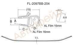 Молдинг лобового стекла AUDI A6/S6 01-04