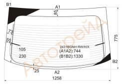 Стекло заднее (крышка багажника) с обогревом BMW 3-SERIES E36 COMPACT 94-01 3D HBK XYG 2431BGNHRWHX