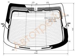 Стекло заднее (крышка багажника) с обогревом BMW 3-SERIES GT F34 13- 5D HBK