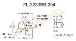 Молдинг лобового стекла нижний (кассета) BMW X1 E84 09- FLEXLINE FL-3230BB