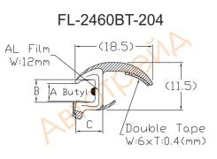 FL-2460BT FLEXLINE Молдинг лобового стекла BMW X3 E83 04-10