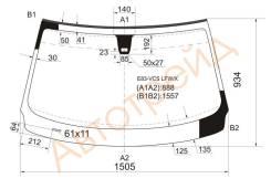 Стекло лобовое в клей BMW X3 E83 04-10, переднее