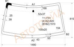 T11 LFW/X XYG Стекло лобовое в клей CHERY TIGGO 05-