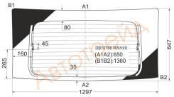 Стекло заднее (крышка багажника) с обогревом CHEVROLET EQUINOX 04-09 XYG DB10766 RW/H/X
