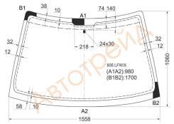 Стекло лобовое в клей PEUGEOT 806/CITROEN EVASION/FIAT ULYSSE 94-02 GN,BL ,C P,LHD,1558,1060