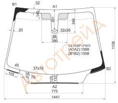 Стекло лобовое в клей CITROEN C4 2004- 3D HBK/C4 2004-2010 5D HBK