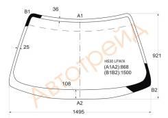 Стекло лобовое в клей HONDA PRELUDE 96-00 XYG HS30LFWX